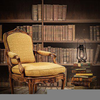 Digital Background, Books, Read, Chair, Library