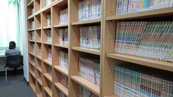 Books, Shelf, Library, Comic Books, Manga, Comics