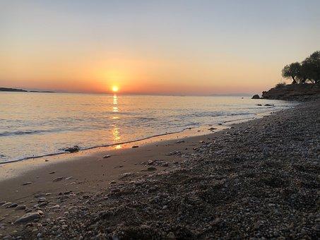 Beach, Sunset, Sea, Shore, Seashore, Coast, Coastline