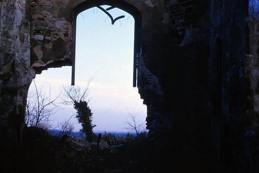 Ruins, Desolate, Abandoned, Old, Urban, Twilight