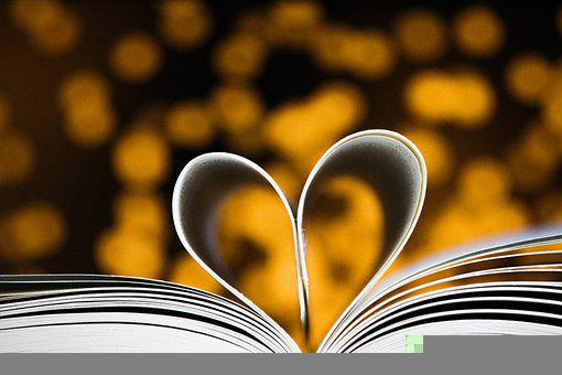 Valentine's Day, Book, Heart, Romantic, Love, Light