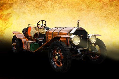 Car, Antique, Headlights, Light, Vehicle, Auto