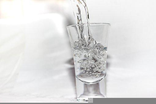 Shot Glass, Glass, Vodka, Water, Alcohol, Pour, Clear