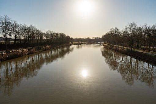 Water Channel, Ship, Sky, Canal Bridge, Away, Channel