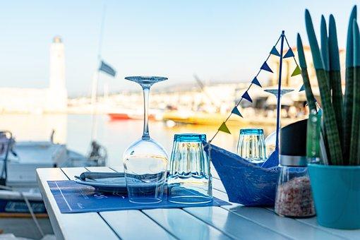 Table, Glass, Wine, Restaurant, Cafe, Port