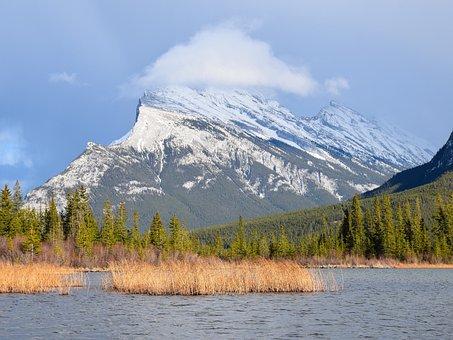 Rocky Mountains, Canada, Banff, Mountains, Lake