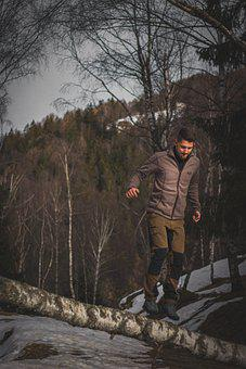 Man, Nature, Mountain, Mountains, Landscape, Forest