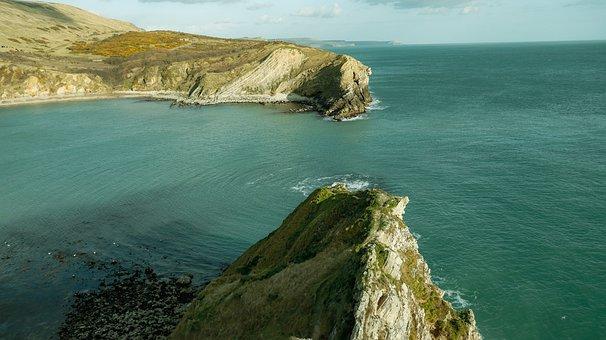 Coast, Dorset, England, Sea, Ocean, Sunset, Landscape