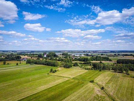 Poland, Village, Landscape, Nature