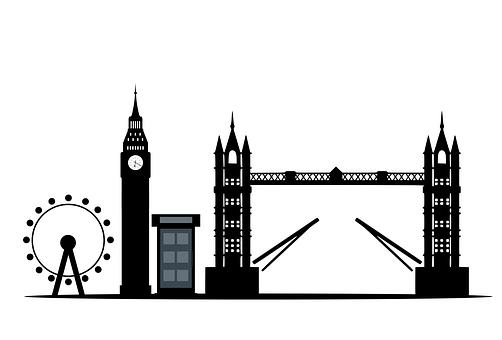 London, Skyline, Silhouette, Landmark, City, England