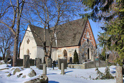 Church, Architecture, Old, Middle Ages, Stone, Winter