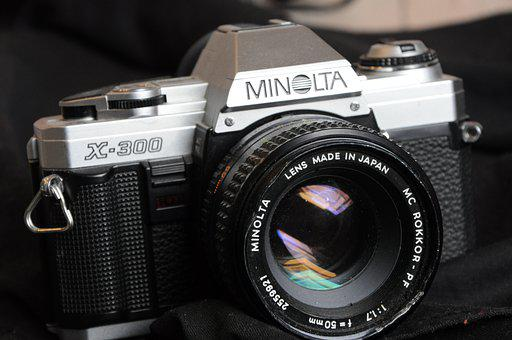 Camera, Analog, Photography, Minolta, Reflection