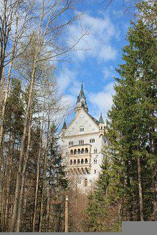 Castle, Neuschwanstein, Germany, Bavaria, Architecture
