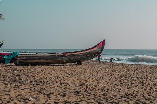 Boat, Beach, Sunset, Sea, Nature, Ocean, Calm, Water