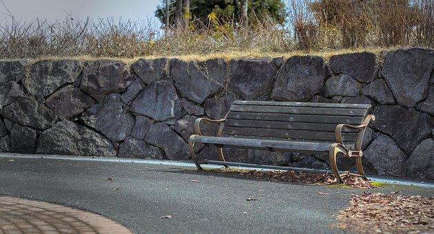 Bench, Park, Autumn, Outdoors, Seat, Rest, Sit, Wood