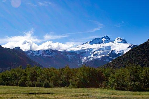Mountain, Meadow, Sky, Mountains, Nature, Landscape