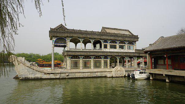 Marble Boat, Summer Palace, Beijing, China, Asia