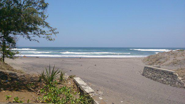 Beach, Yogyakarta, Parangtritis, Ocean, Travel, Water