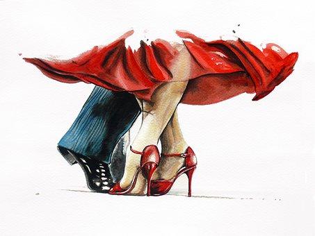 Tango, Watercolor, Dance, Dancers, Exercise, Argentine