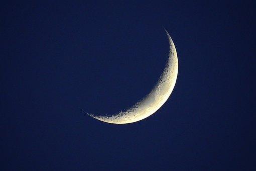 Moon, Night, Dark, Space, Landscape, Astronomy, Scene