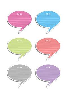Bobble, Conversation Bubble, Conversation Box, Notes