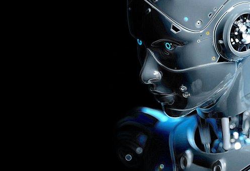 Robot, Dark, Head, Technology, Android, Cyborg, Machine