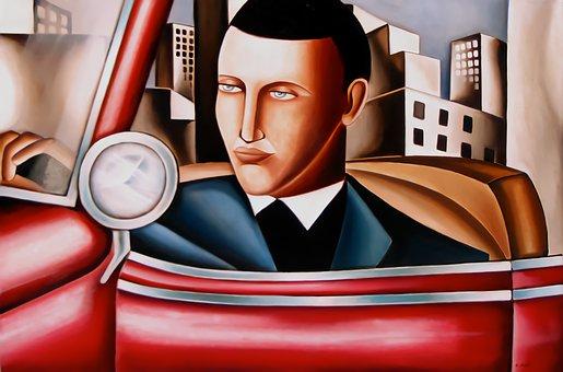 Art, Deco, Paiting, Daniel Husty, Artist