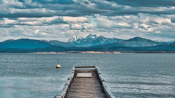 Autumn, Winter, Landscape, Chiemgau, Lake, Chiemsee