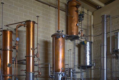 Metal, Copper, Tubes, Cylinders, Distillery, Brass