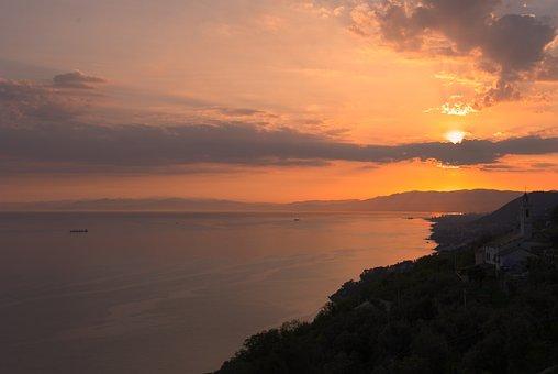 Sea, Coast, Clouds, Coastline, Sunset, Ocean, Sky