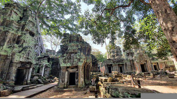 Angkor Wat, Temple, Cambodia, Angkor, Tourist, Religion