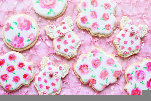 Royal Icing Cookies, Flowers, Roses, Cookie Decorating