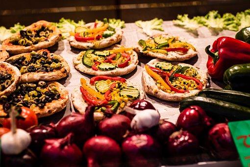 Road, Pizza, Vegan, Vegetables, Snack, Selection, Food
