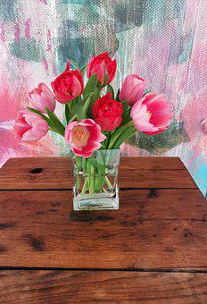 Tulip, Tulips, Flowers, Spring, Interior, Home Style