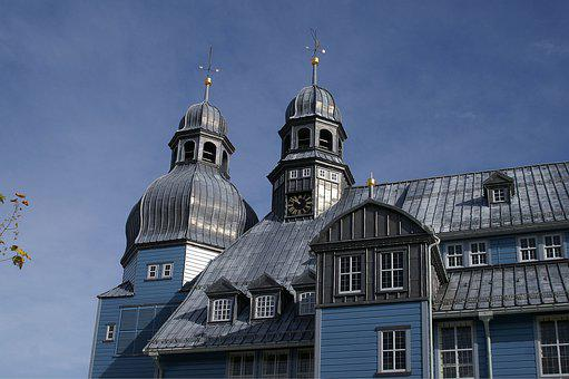 Clausthal, Zellfeld, Resin, Oberharz, Wooden Church