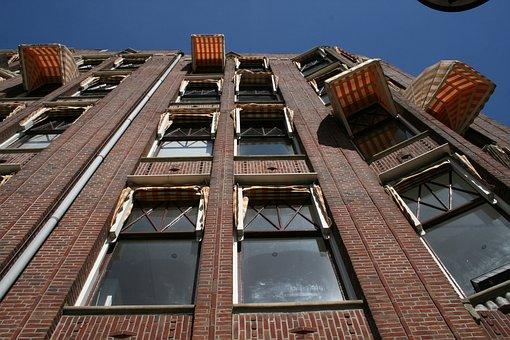 Hotel, House, Amsterdam, Awning, Window, Architecture