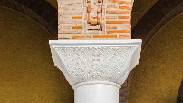 Pillar Capitals, Architecture, Column, Church, Elegance