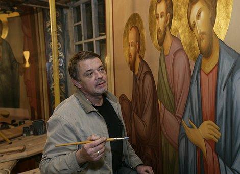 Painter, Artist, Evgeny Platov, Painting, Master, Brush