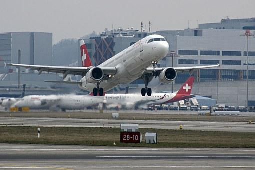 Aircraft, Start, Airport, Flying, Aviation, Brake