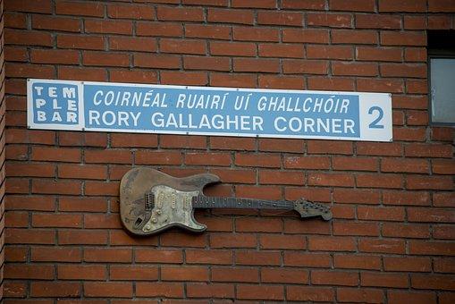 Rory Gallagher Corner, Ireland, Dublin, Bar, Sign