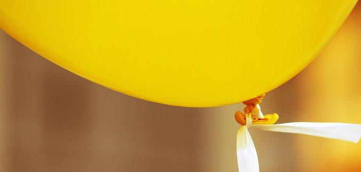 Balloon, Yellow, Party, Birthday, Celebration, Colorful