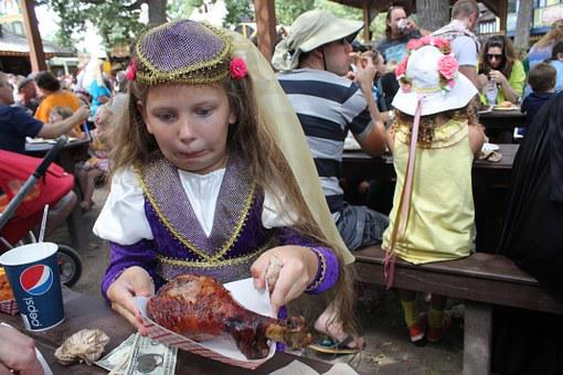 Food, Turkey, Carnival, People, Girl, Frightened Girl