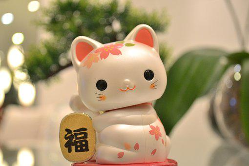 Maneki Neko, Cat Japanese Lucky, Japanese Cat