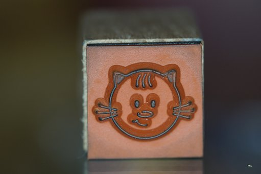 Stamp, Cat, Wood Stamp, Child, Children, Tinker, Face