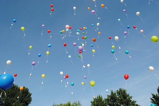 Balloons, Celebration, Float, Helium, Ease, Celebrate