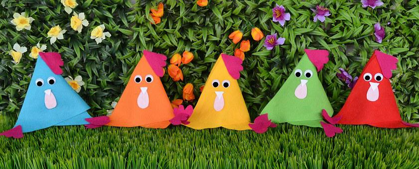 Chickens, Easter, Chicken, Decoration, Funny, Colorful