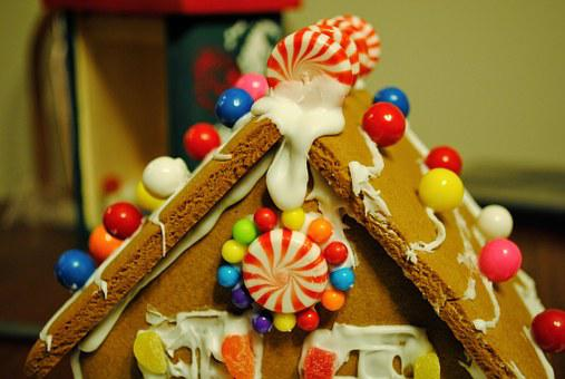 Gingerbread, House, Candy, Christmas, Gingerbread House