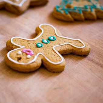 Gingerbread, Man, Food, Pastry, Christmas, Sweets