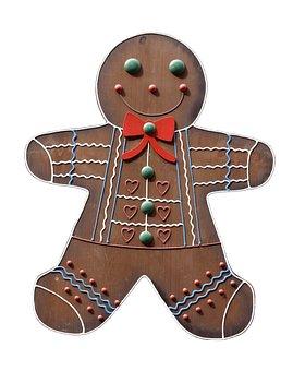 Gingerbread Man, Crafts, Decoration, Wood, Sign