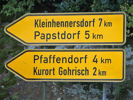 Directory, Ortsschilder, Germany, Papst There